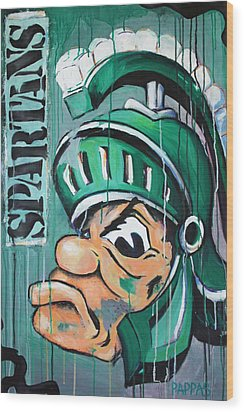 Spartans Wood Print