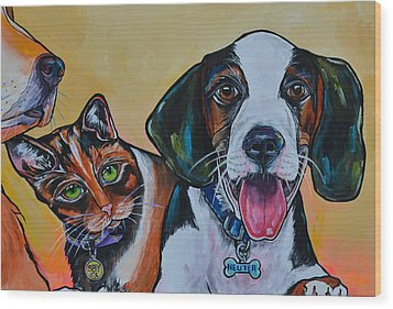 Spay And Neuter Wood Print by Patti Schermerhorn