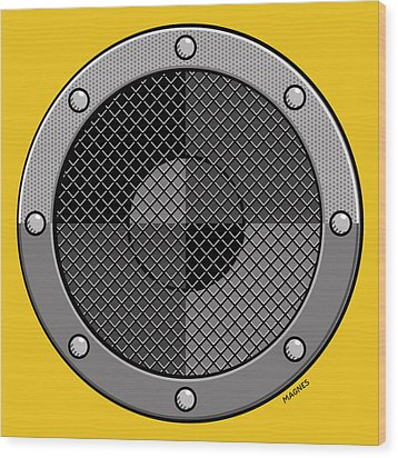 Wood Print featuring the digital art Speaker by Ron Magnes