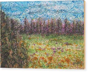 Speaking The Landscape Wood Print by Jason Messinger