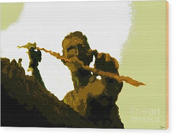 Spearfishing Man Wood Print by David Lee Thompson