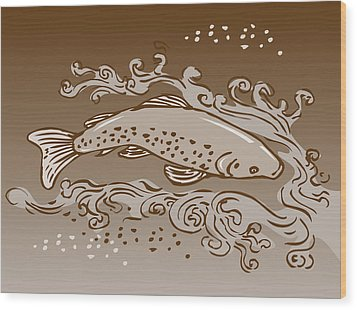 Speckled Trout Fish Wood Print by Aloysius Patrimonio