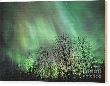 Spectacular Lights Wood Print