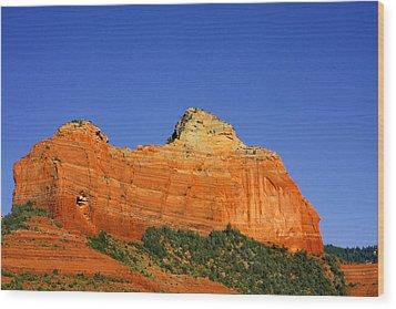 Spectacular Red Rocks - Sedona Az Wood Print by Christine Till