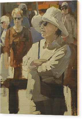 Spectators Wood Print by David Simons
