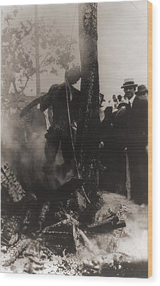 Spectators Photographed Wood Print by Everett