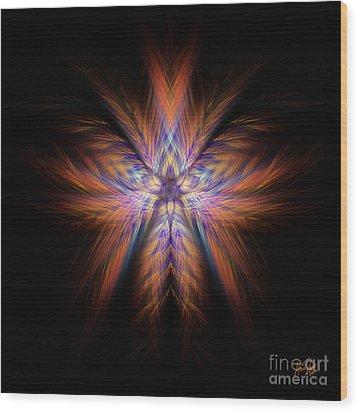Spectra Wood Print by Alina Davis