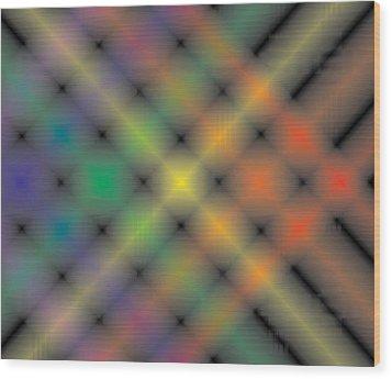 Spectral Shimmer Weave Wood Print