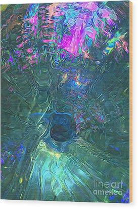 Spectral Sphere Wood Print