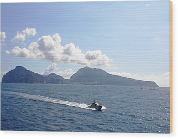 Wood Print featuring the photograph Speed At Sea Capri by Piety Dsilva