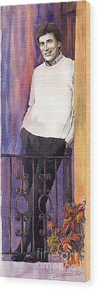 Spenser 01 Wood Print by Yuriy  Shevchuk