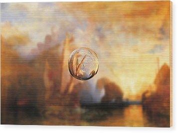 Sphere 11 Turner Wood Print by David Bridburg