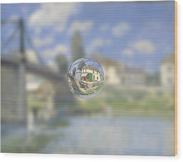 Sphere 18 Sisley Wood Print by David Bridburg