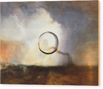 Sphere I Turner Wood Print by David Bridburg
