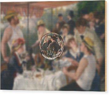 Sphere 4 Renoir Wood Print by David Bridburg