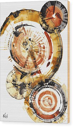 Wood Print featuring the painting Sphere Series 1020.050112 by Kris Haas
