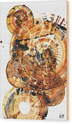 Wood Print featuring the painting Sphere Series 1021.050212 by Kris Haas