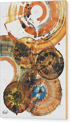 Wood Print featuring the painting Sphere Series 1024.050312 by Kris Haas
