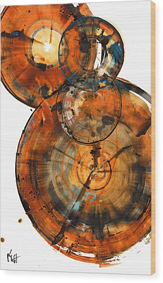 Wood Print featuring the painting Sphere Series 1027.050412 by Kris Haas