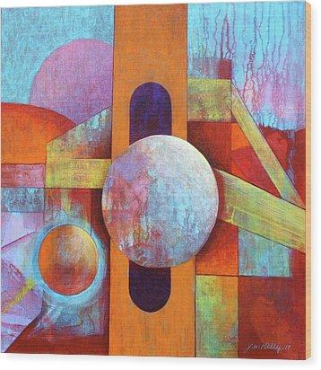 Spheres And Beams Wood Print by J W Kelly