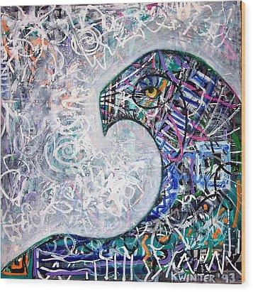 Sphinx Wood Print by Dave Kwinter
