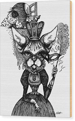 Sphynx Queen Wood Print by Akiko Okabe