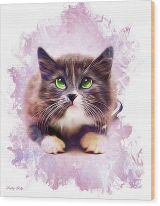 Spice Kitty Wood Print