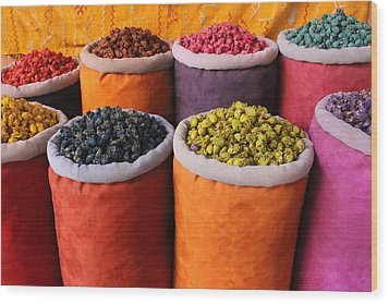 Wood Print featuring the photograph Spice Rainbow by Ramona Johnston