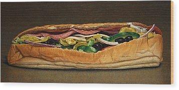 Spicy Italian Wood Print by James W Johnson