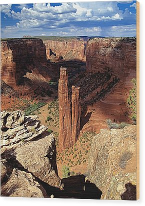 Spider Rock Canyon De Chelly Arizona Wood Print by George Oze