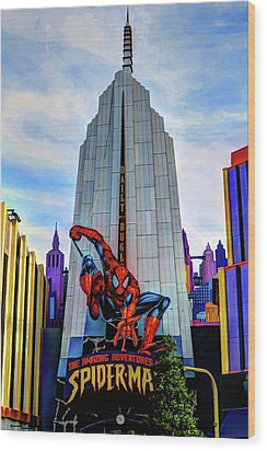 Wood Print featuring the photograph Spiderman by Tom Prendergast