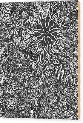 Spider's Web Wood Print by Mandy Shupp