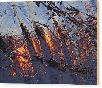 Spiking Wood Print