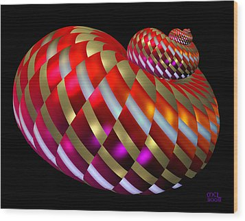 Wood Print featuring the digital art Spin-orbit Interaction by Manny Lorenzo