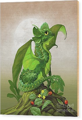 Spinach Dragon Wood Print by Stanley Morrison