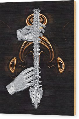 Spine - Instrument Of Life Wood Print by Joseph Ventura