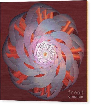 Spinning Pinwheel Wood Print by Deborah Benoit