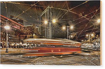 Wood Print featuring the photograph Spinning Trolley Car by Steve Siri