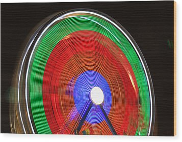Spinning Wheels Wood Print by James BO  Insogna