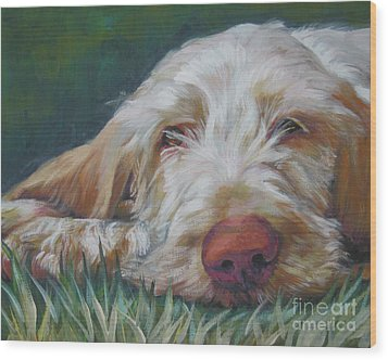 Spinone Italiano Orange Wood Print