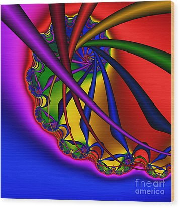 Spiral 217 Wood Print by Rolf Bertram