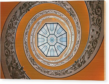 Spiral Wood Print by Brian Bonham