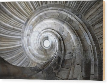 Spiral Staircase Wood Print by Falko Follert