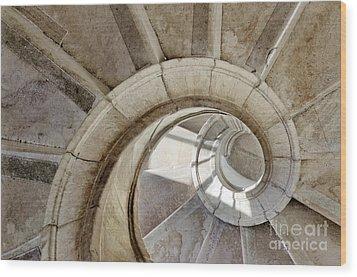 Spiral Stairway Wood Print by Carlos Caetano