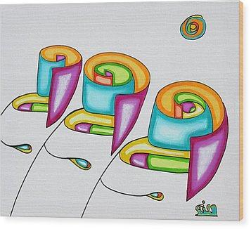 Spiral Triplets Wood Print by            Gillustrator