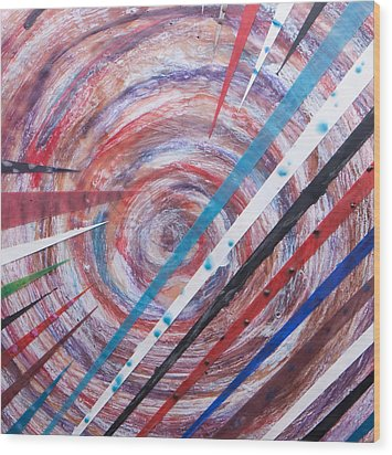 Spiral Unto Thee Wood Print by Nell Werner