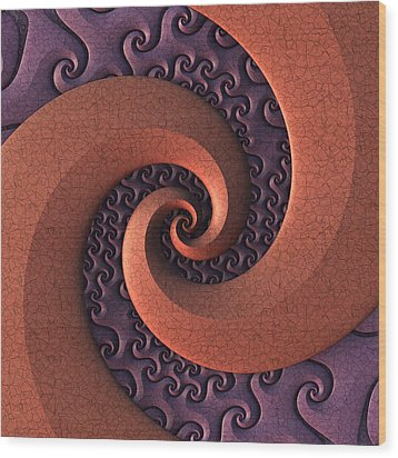 Wood Print featuring the digital art Spiralicious by Lyle Hatch