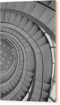 Spiraling Down  Wood Print by Tara Lynn