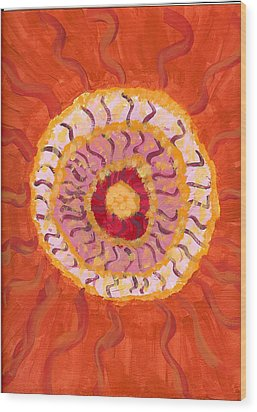 Spiraling To The Center Wood Print by Laura Lillo