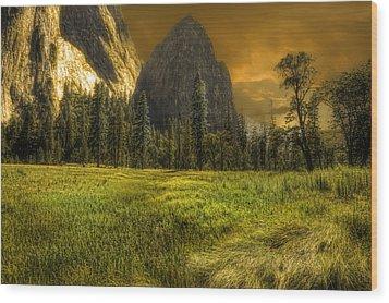 Spire Wood Print by Michael Cleere
